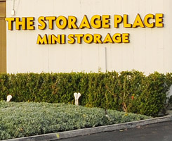 The Storage Place Mini Storage sign